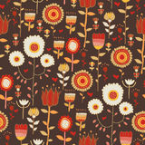 Vintage flowers on the dark background Royalty Free Stock Photography