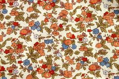 Vintage Flowers Fabric. A Pattern of Vintage Flowers Fabric Royalty Free Stock Photography
