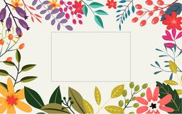 Vintage flowers greeting card Stock Image