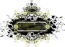 Vintage flowers grunge emblem Royalty Free Stock Image