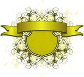 Vintage flowers grunge emblem Stock Image