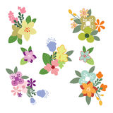 Vintage Flowers Illustration - Set Royalty Free Stock Image