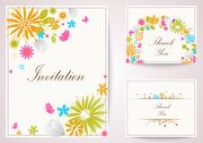 Vintage flowers invitation Stock Images