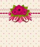 Vintage Flowers with lace ornaments Royalty Free Stock Photography