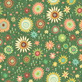 Vintage flowers and leaves. Seamless Royalty Free Stock Photos
