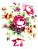 Vintage flowers pattern Stock Photos