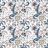 Vintage flowers seamless background in provence style. Stock Photography