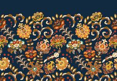 Vintage flowers seamless background in provence style. Vector blue beige pattern on white. vector illustration