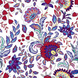 Vintage flowers seamless background in provence style. Royalty Free Stock Photos