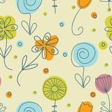 Vintage flowers. Seamless pattern Royalty Free Stock Image