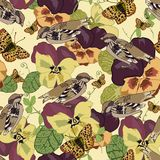 Vintage flowers seamless pattern Royalty Free Stock Photography