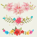 Vintage flowers set. For different events Stock Image
