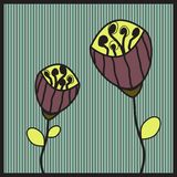 Vintage Flowers. Vector Illustration of Vintage-Style Flowers and Seed Pods Stock Images
