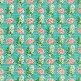 Vintage flowers wallpaper Stock Image