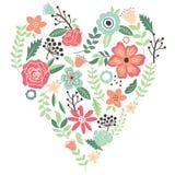 Vintage Flowers Wedding Heart Royalty Free Stock Photo