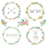 Vintage Flowers Wreath Elements