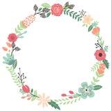 Vintage Flowers Wreath Stock Image