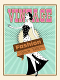 Vintage flyer, banner or template. Stock Photos