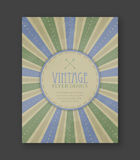 Vintage flyer template, corporate banner, brochure or cover design. Royalty Free Stock Image