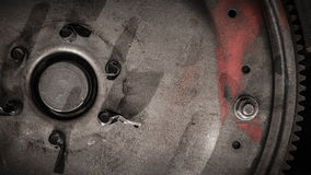 Vintage flywheel close-up royalty free stock photo