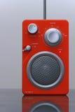 Vintage FM radio. Vintage look orange FM radio stock images