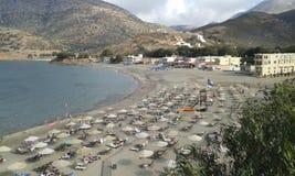 Vintage Fodele beach. Fodele beach. Vintage look.  Crete. Greece Royalty Free Stock Photography