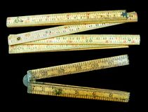 Vintage Fold Up Rulers Royalty Free Stock Image