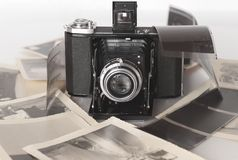 A vintage folding camera Royalty Free Stock Image
