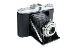 Vintage folding camera Royalty Free Stock Photography