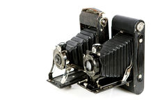 Vintage folding cameras Royalty Free Stock Photo