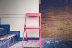 Vintage folding chair royalty free stock photo