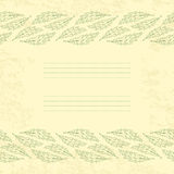 Vintage foliate card Royalty Free Stock Images