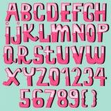 Hand drawn vintage alphabet set Royalty Free Stock Image