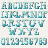 Hand drawn vintage alphabet set Stock Photos
