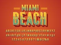 Vintage font vector illustration