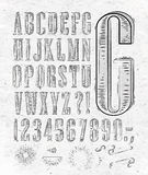 Vintage font letters Stock Photos