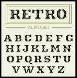 Vintage font set Stock Image