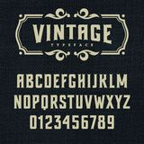 Vintage font 002 stock illustration