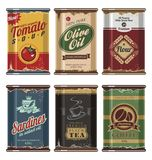 Vintage food cans Stock Image