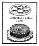 Vintage food delicacy, chocolat cake and glazed chocolat cookies Stock Images