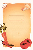 Vintage Food Menu Template. With Graphic Vegetables Stock Photos