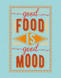Vintage food related typographic quote Stock Images