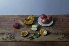 Still life vintage picture of fruits Stock Photography