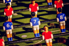 Vintage Foosball, Table Soccer or Football Kicker Game Stock Photography