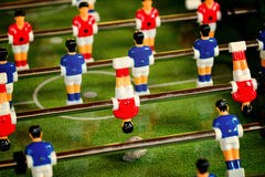 Vintage Foosball, Table Soccer or Football Kicker Game Royalty Free Stock Photography