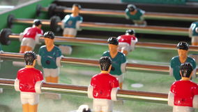 Vintage Foosball, Table Soccer or Football Kicker Game stock video footage