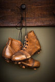 Vintage football boots Stock Image