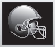 Vintage football helmet. Silver vintage football helmet picture Stock Image