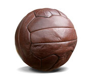 Vintage football isolated w. path. Vintage football. This image contains a clipping path royalty free stock photo