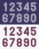 Vintage football jersey numbers Stock Images
